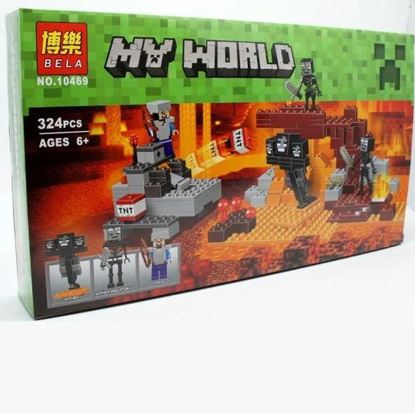 """Конструктор майнкрафт  BELA Minecraft """"Иссушитель"""" 324 детали"""