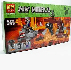 """Конструктор BELA Minecraft """"Иссушитель"""" 324 деталі"""