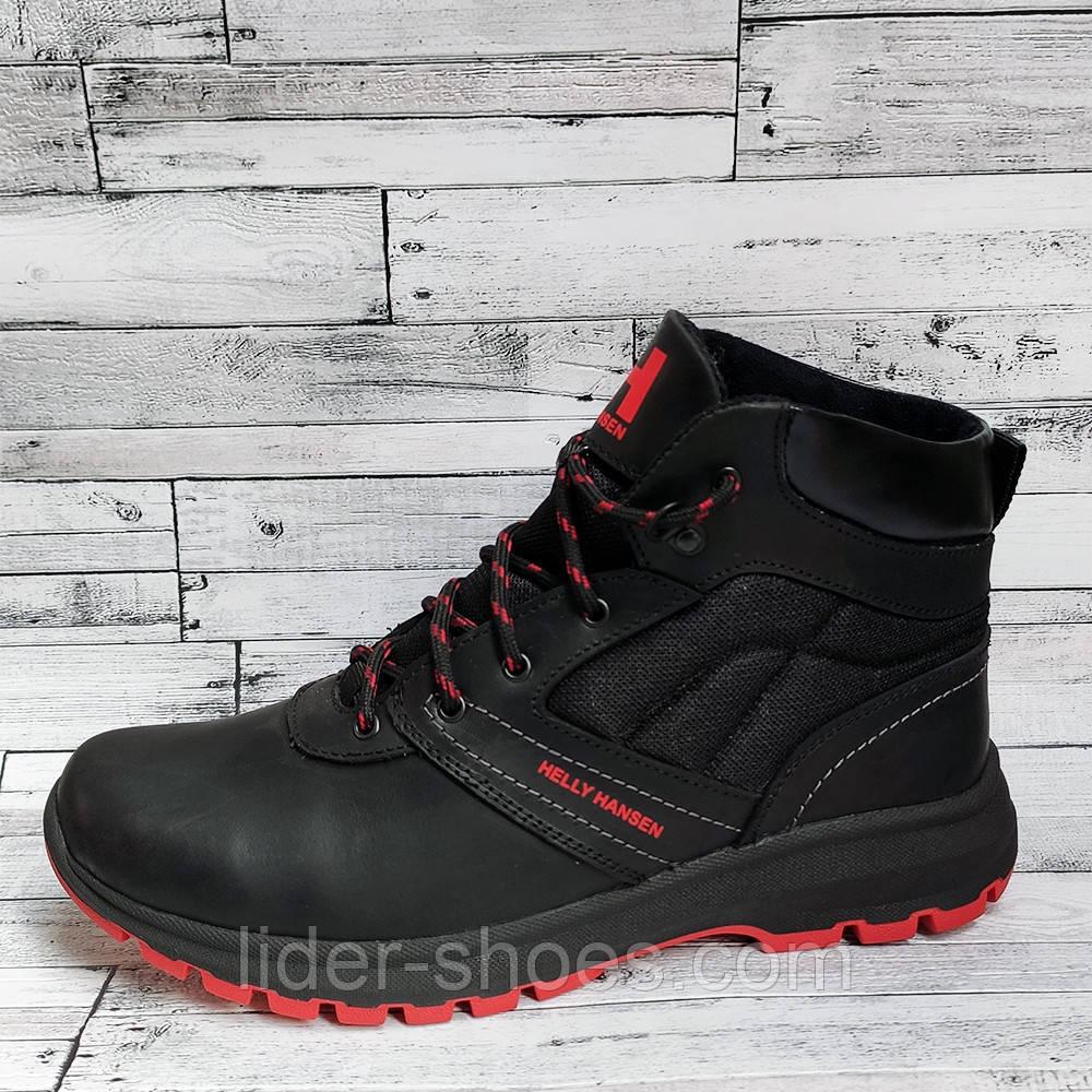 Кожаные мужские ботинки на меху