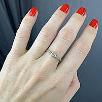 Золотое кольцо с фианитами 585 пробы, вес 1.80г. Б/у. Продажа по Украине, фото 2