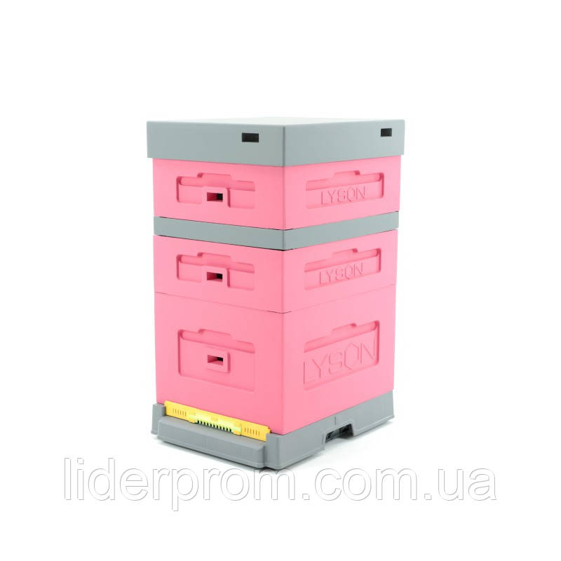 Улей розовый с гигиеническим пластиковым днищем LYSON (Польша)
