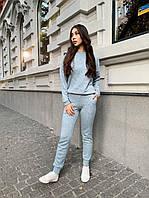 Женский ангоровый брючный костюм со штанами на манжетах и кофтой 65KO1416, фото 1