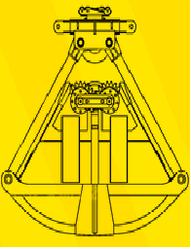 Четырехканатные грейфера для  сыпучих материалов