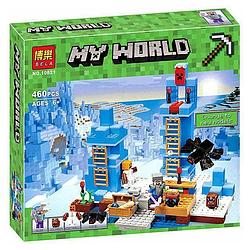 Конструктор майнкрафт Ледяные шипы Bela Minecraft 460 деталей