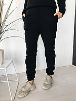 Женские утепленные спортивные штаны на флисе (р. единый 42-44) 22SH536, фото 1