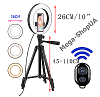 Набор для блогера 4 в 1: Кольцевая LED лампа 26 см, штатив, держатель, пульт SQ21632, фото 1