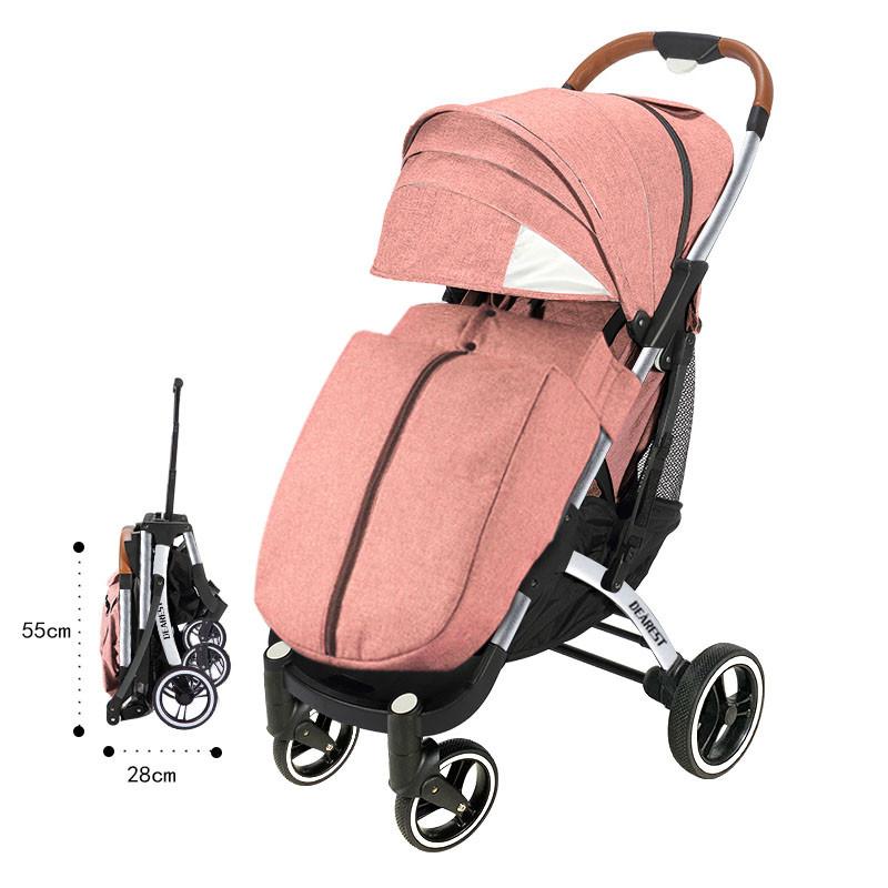 Прогулочная Коляска Dearest PRO Premium Пурпурно-Розовая, рама серебро