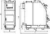 Индустриальный твердотопливный котел Kraft Prom V 250 кВт из котловой стали 8 мм с автоматикой, фото 3