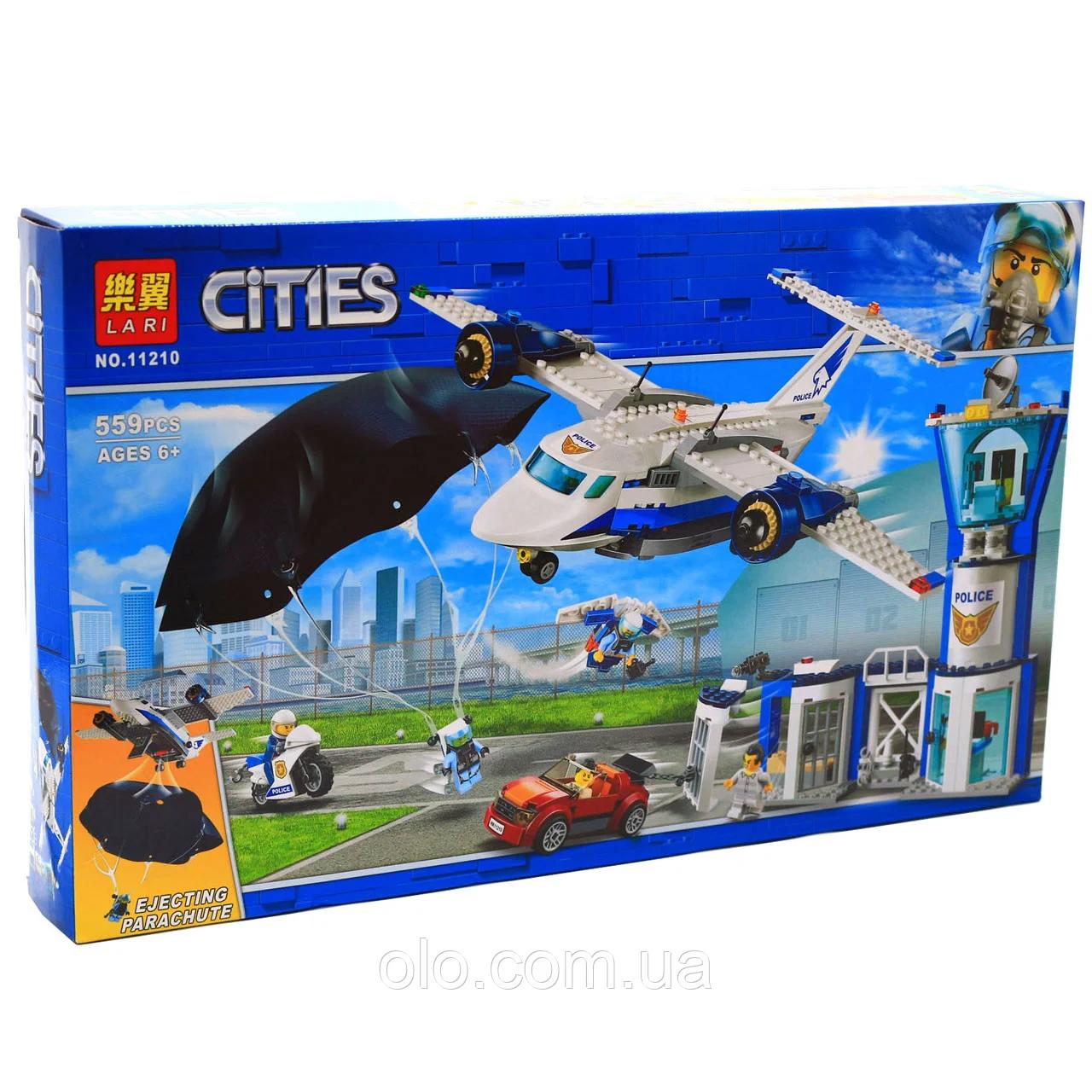 """Конструктор BELA City """"Воздушная полиция: авиабаза"""" 559 деталей"""