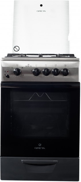 Газоелектрична плита GRETA 1470-07 ЕР ч/р+нерж.