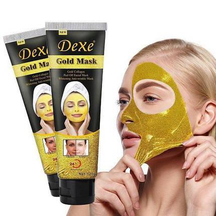 Омолаживающая золотая маска для лица Dexe Gold Mask, фото 2