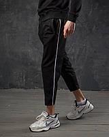 Спортивные штаны мужские дайвинг осенние весенние демисезонные Cage черные | брюки спортивки ЛЮКС качества
