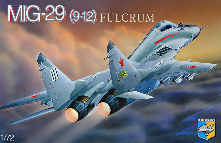 """МиГ-29 """"9-12"""" Сборная модель прототипа советского самолета в масштабе 1/72. CONDOR 7210, фото 2"""