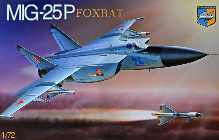 МИГ-25P FOXBAT. Сборная модель советского военного самолета в масштабе 1/72. CONDOR 7212, фото 2