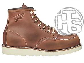 Зимние ботинки Red Wing USA Classic Moc 6-inch Boot 8424890 Brown 875 (иск. мех)