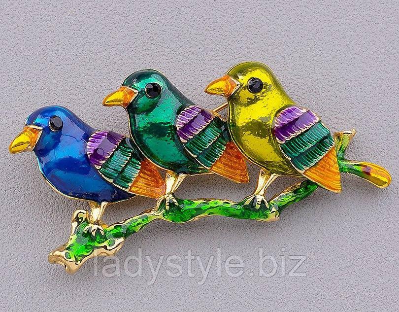 """Брошь """"Птицы"""" от студии LadyStyle.Biz"""