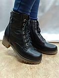 Комфортные зимние чёрные ботинки больших размеров Romax, фото 6