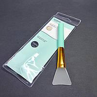 Кисть силіконова для нанесення масок блакитна