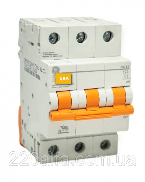 Автоматический выключатель General Electric DG 63 C50 6kA