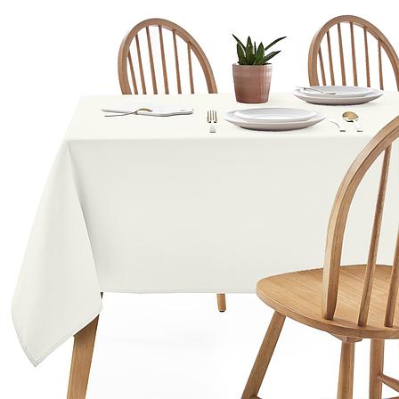 Скатертина 300х150см Молочна Арт.963 Туреччина в Ресторан на стіл 240х90см спуск 30см, фото 2