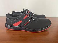 Чоловічі туфлі спортивні чорні прошиті (код 5547), фото 1