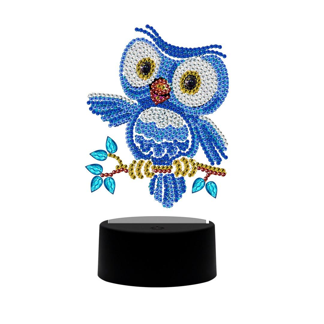 Набор для творчества Crystal art светодиодный светильник с алмазной мозаикой Совенок (MI_DP14)