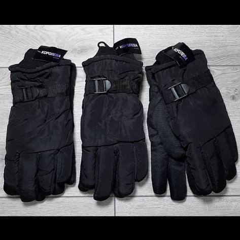 Мужские перчатки плащевка зима внутри мех, фото 2