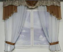 Кухонные шторы, готовые занавески на кухню