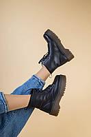 Демисезонные женские ботинки из натуральной кожи на высокой подошве 38, 39, 40 рр.