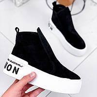 Ботинки женские Malorie черные с белым 2254, фото 1