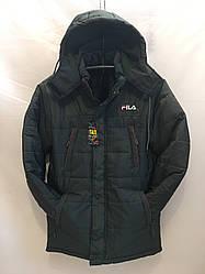 Чоловіча зимова куртка Fils на овчині оптом рр. 48-56