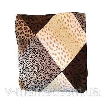 """Плед мікрофібра коричневий """"Шкура леопарда"""" полуторний, 145/210 див."""