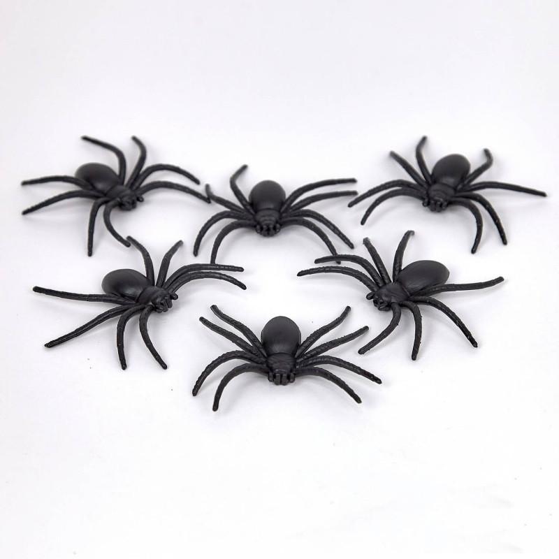 Пауки резиновые на Хэллоуин, 6 штук