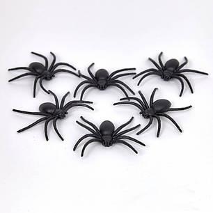Пауки резиновые на Хэллоуин, 6 штук, фото 2