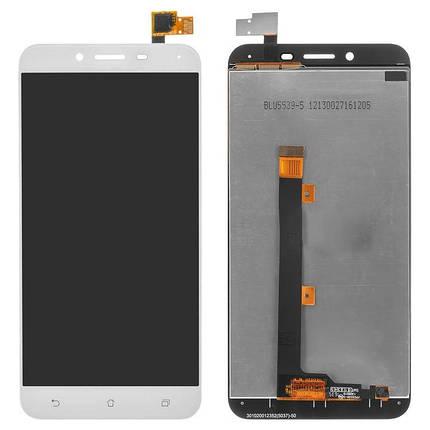 Дисплей (экран) для Asus ZenFone 3 Max (ZC553KL) 5.5 X00DDB с сенсором (тачскрином) белый, фото 2