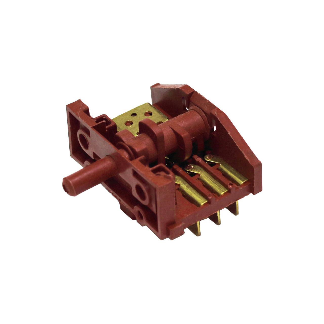 Переключатель режимов для электроплиты (4 позиции, вал 15 мм)