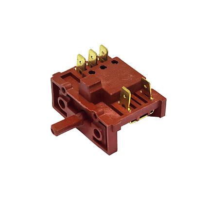 Переключатель режимов для электроплиты (4 позиции, вал 15 мм), фото 2