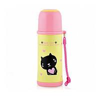 Нержавеющий термос Fissman черный котенок 480 мл VA-9693.480