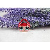 """Кабошон плоский """" Куклы Lol , Личико """" № 16 Принцесса с красными волосами  20 шт"""