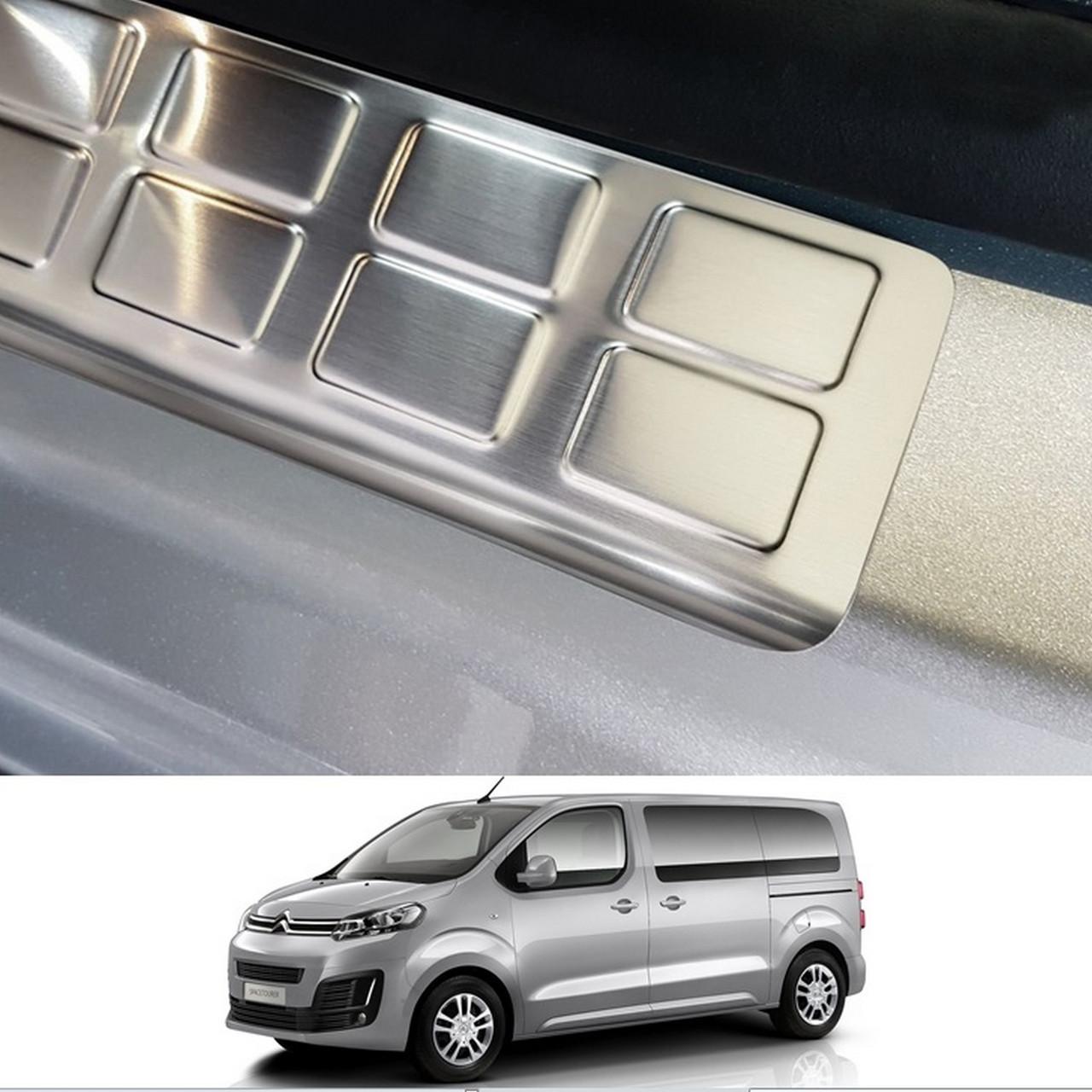 Накладки на отвори порогів задніх зсувних дверей для Opel Vivaro С / Zafira Life 2019+ /нерж.сталь/