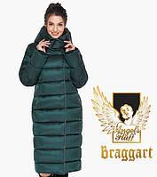 Зимняя теплая женская куртка воздуховик Braggart Angel's Fluff изумрудная