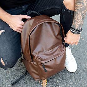 Рюкзак кожаный мужской TRIGGER BRWN коричневый WLKR