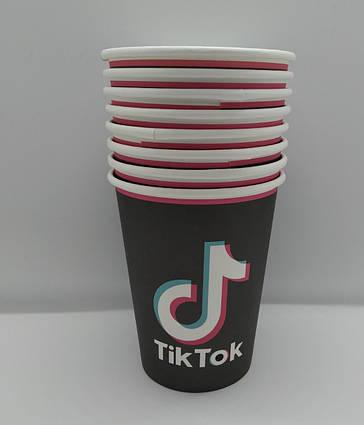 Дитячі святкові паперові стаканчики Тік Ток Tik Tok 10 штук