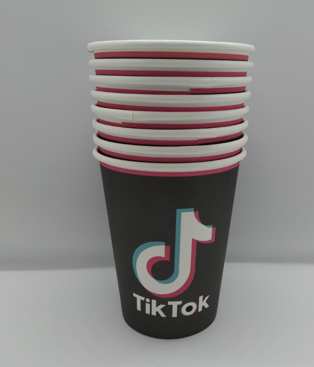 Детские праздничные бумажные стаканчики Тик Ток Tik Tok 10 штук