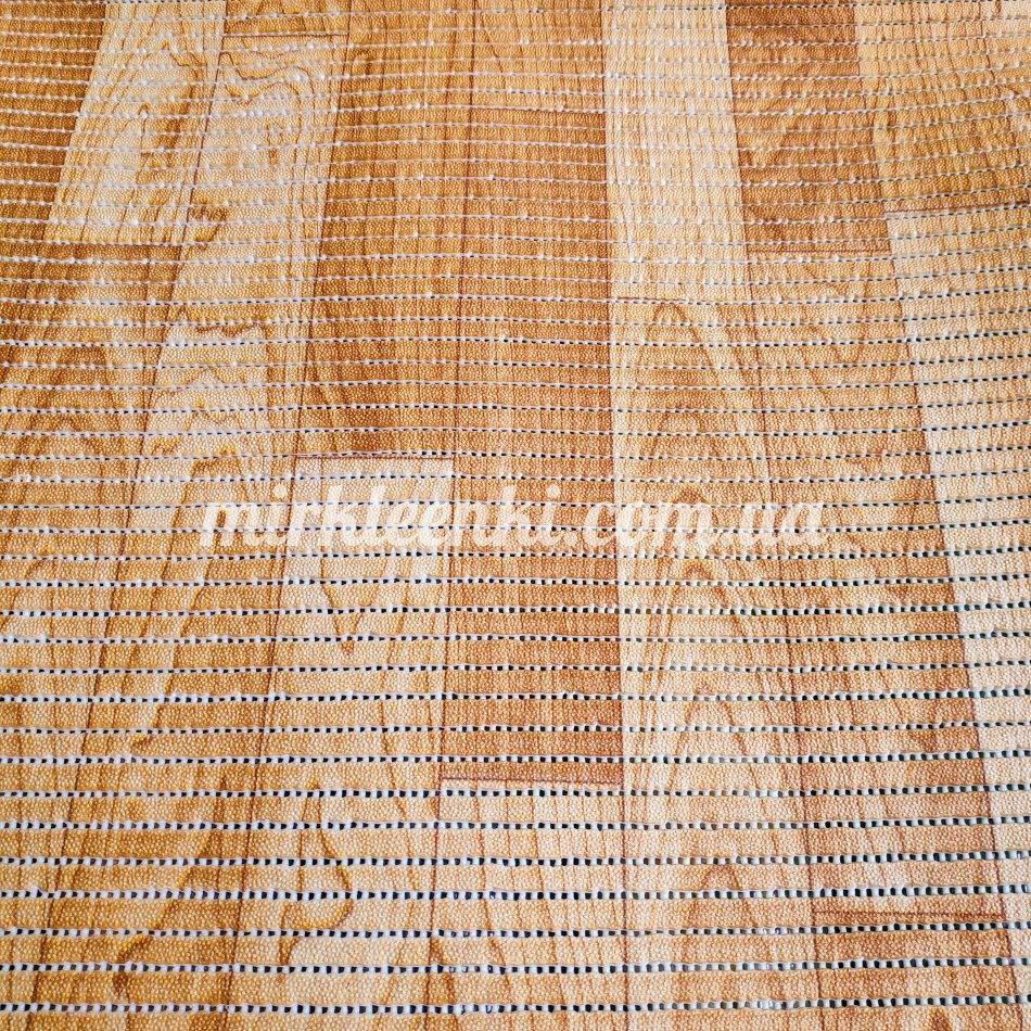 Качественный рулонный коврик Паркет ширина 80 см для Ванной Туалета Кухни Коридора Аквамат розница