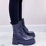 Женские ботинки ДЕМИ черные на шнуровке натуральная кожа, фото 2
