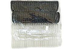 Резинка пружинка для волос черно-белая набор 25 шт