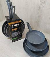 Набор сковородок A-Plus FP-1741 3 в 1 (20, 24, 28 см), фото 1