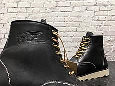 Мужские зимние ботинки Red Wing. Натуральная кожа. Утеплены мехом. Черный, фото 2