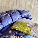"""Одеяло на овчине """"ODA"""" Размер 200*220 см   Ковдра вовняна . Стеганое Евро одеяло, чехол 100% Хлопок, фото 3"""
